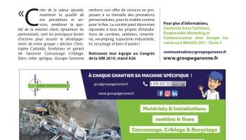 Groupe Garonne acquiert une nouvelle structure au sein de son entité Garonne Concassage Criblage - Article Terrassements & Carrières (Octobre 2019)