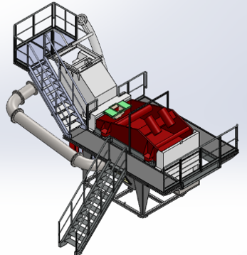 Projet bureau d'études - schéma cuve et traitement des sables