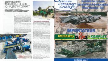 Groupe Garonne importateur de Gipo, Komplet et McCloskey - Article Le Moniteur (Septembre 2016)