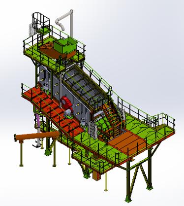 Garonne Concassage Criblage - Conception et Fabrication d'installations fixe de carrière, sablière, cimenterie, tuyauterie industrielle, revamping, tri, recyclage - Concepteur, fabricant d'Installation sur-mesure de concassage, criblage - Projet bureau d'études - exemple de schéma pour un poste de criblage