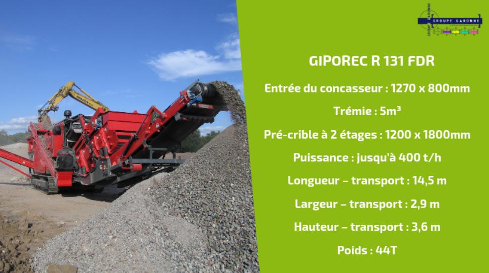 Zoom sur le GIPOREC R 131 FDR,, modèle phare des concasseurs à percussion GIPO