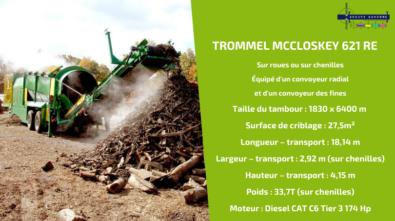 Zoom sur le MCCLOSKEY 621 RE, modèle phare des crible trommel pour le tri et le recyclage de déchets MCCLOSKEY