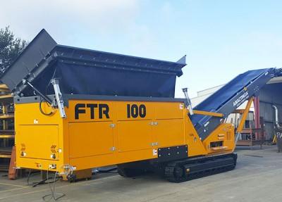 Convoyeur d'alimentation sur chenilles, convoyeur pour transport d'agrégats, acheminement de matériaux, sable, gravier, agrégats, compost, charbon ANACONDA FTR100