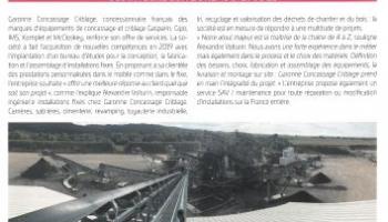 Garonne Concassage Criblage intègre son Bureau d'études - Conception sur-mesure d'Installations fixes de carrière, fabrication, montage, livraison, entretien, maintenance SAV - Recyclage et Récupération Magazine n°48 Janvier-Février 2020