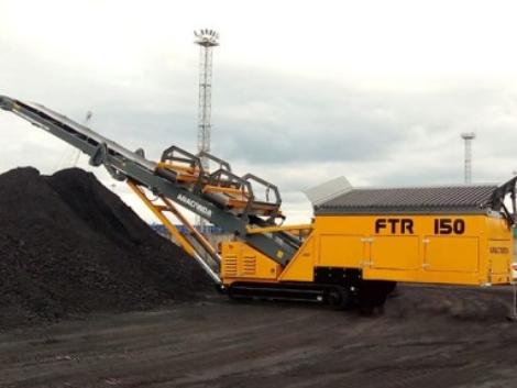 Convoyeur d'alimentation sur chenilles, convoyeur pour transport de sable, acheminement de matériaux, sable, gravier, agrégats, compost, charbon ANACONDA FTR150