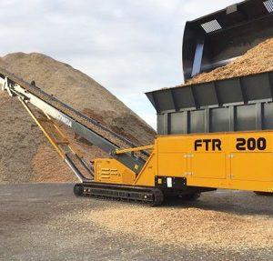 Convoyeur d'alimentation sur chenilles, convoyeur pour transport de sable, acheminement de matériaux, sable, gravier, agrégats, compost, charbon ANACONDA FTR200