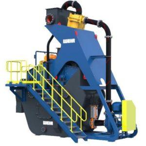Installation de traitement de sable sur skid équipée d'un cyclonage CAVEX et d'un crible d'égouttage WEIR VD9 - WEIR MINERALS SP 70 TPH