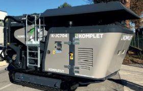 Concasseur à mâchoires compact sur chenilles KOMPLET K-JC 704