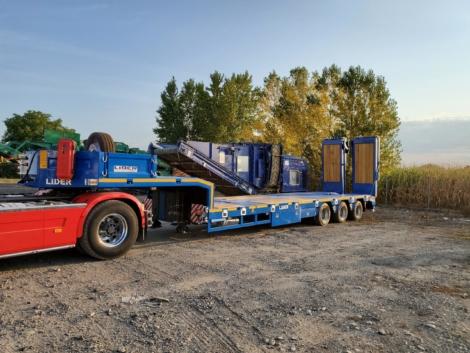 Remorque 3 essieux LIDER LOWBED - Matériel neuf - Garonne Services - Transport