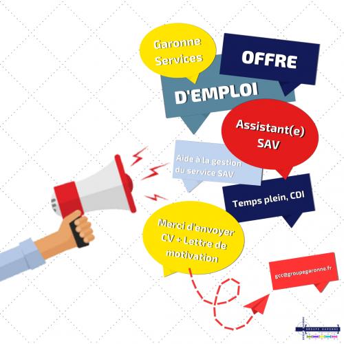 Offre d'emploi Assistant(e) SAV Toulouse - Garonne Services